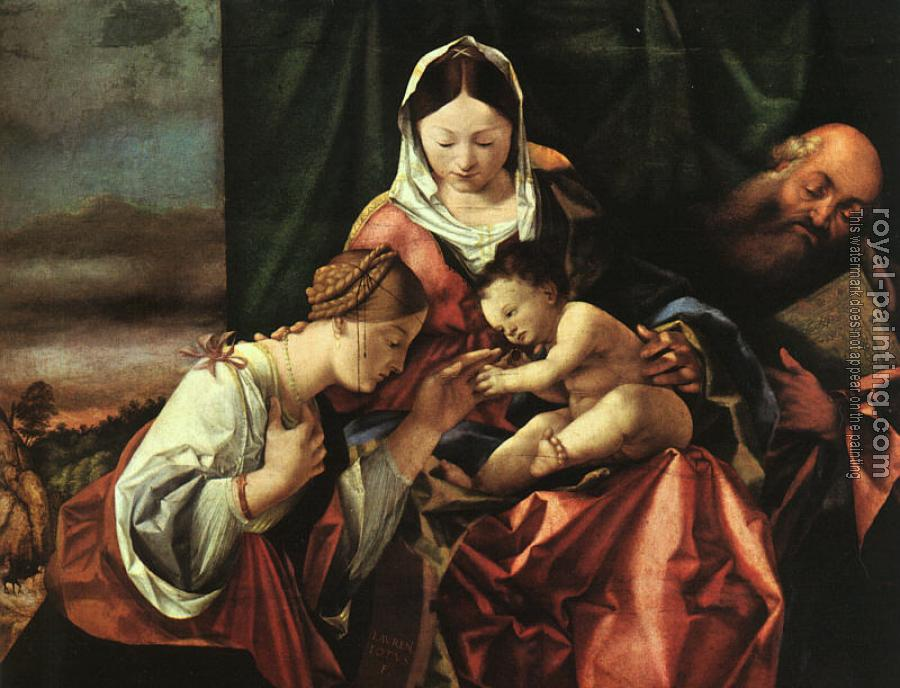 Lorenzo Lotto : The Mystic Marriage of St Catherine