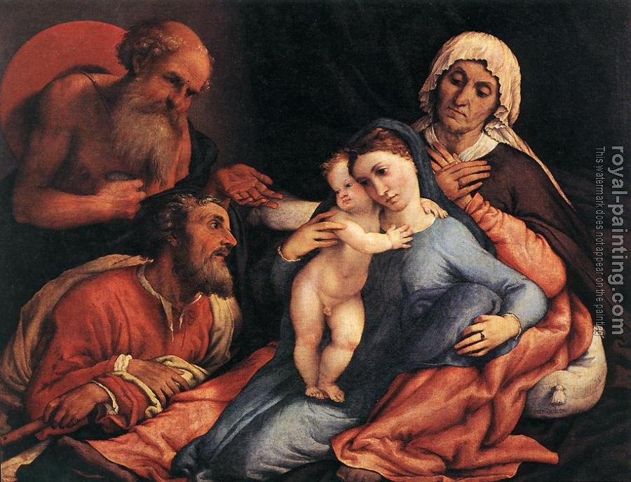 Lorenzo Lotto : Madonna and Child with Saints