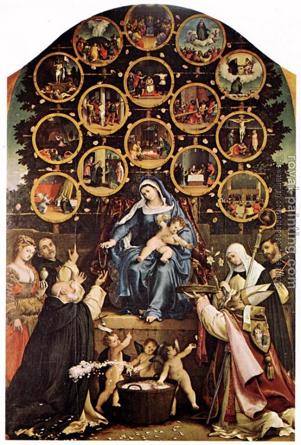 Lorenzo Lotto : Madonna of the Rosary
