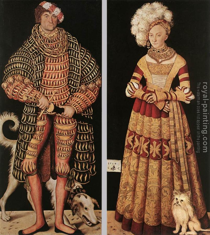 Portraits of Duke of Saxony and his wife Katharina von Meckl