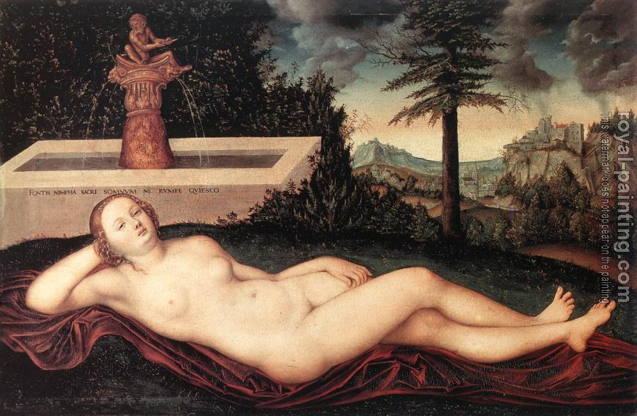 Reclining River Nymph at the Fountain