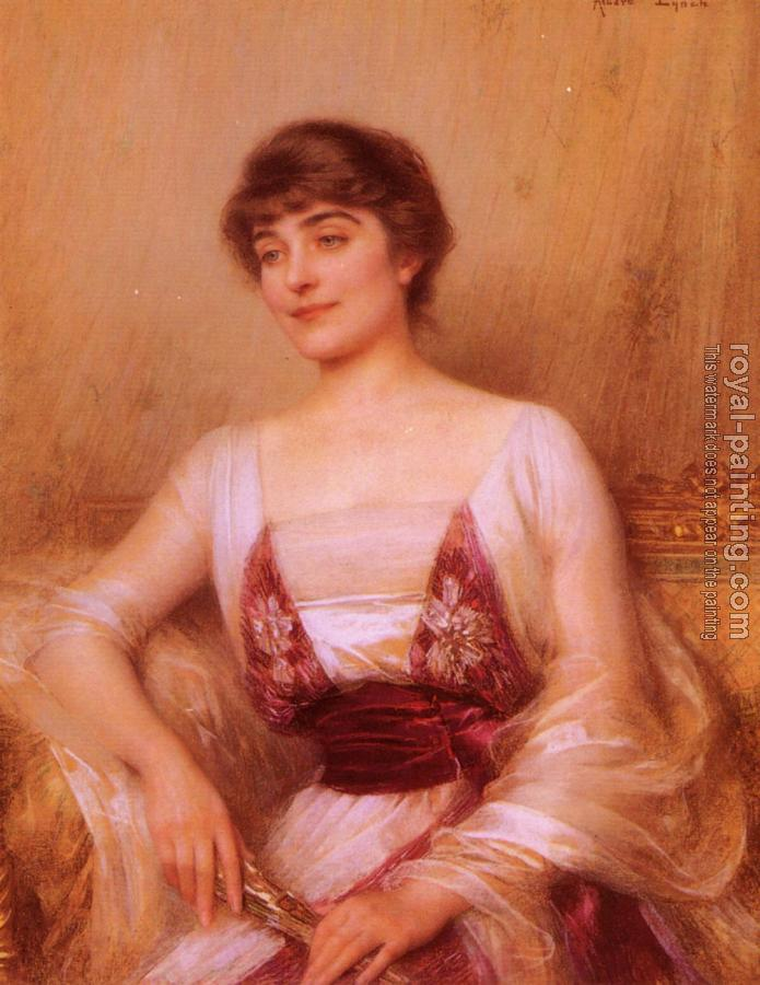 Albert Lynch : A Lady with a Fan
