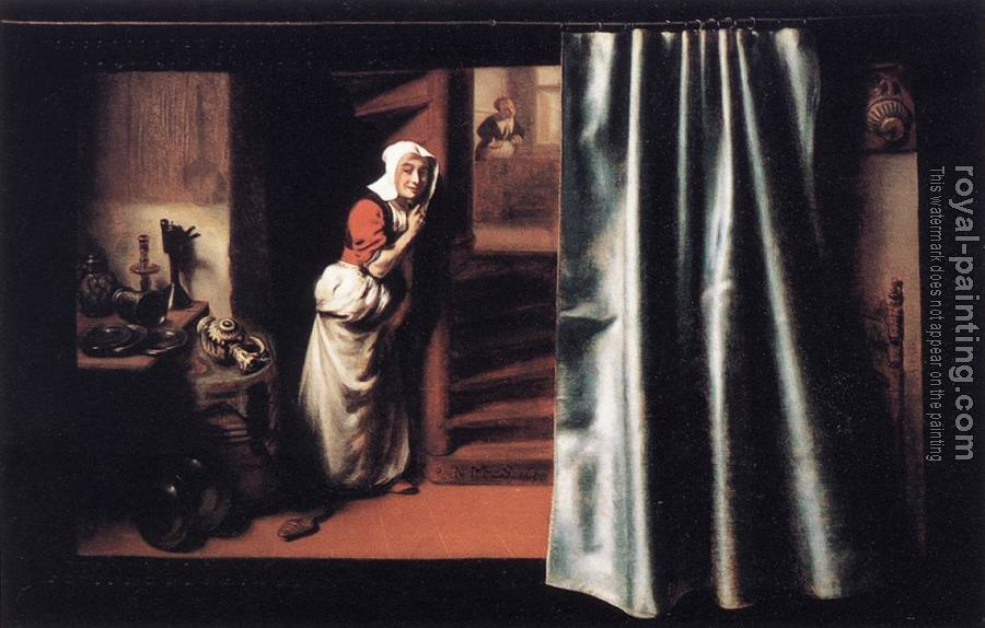 Nicolaes Maes : Eavesdropper with a Scolding Woman