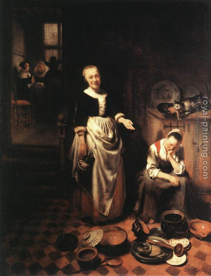 Nicolaes Maes : The Idle Servant