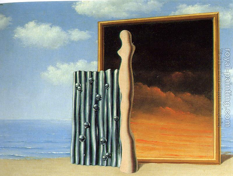 Rene Magritte : composition on a sea shorel