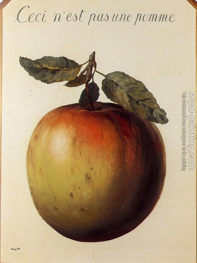 Rene Magritte : This is Not an Apple