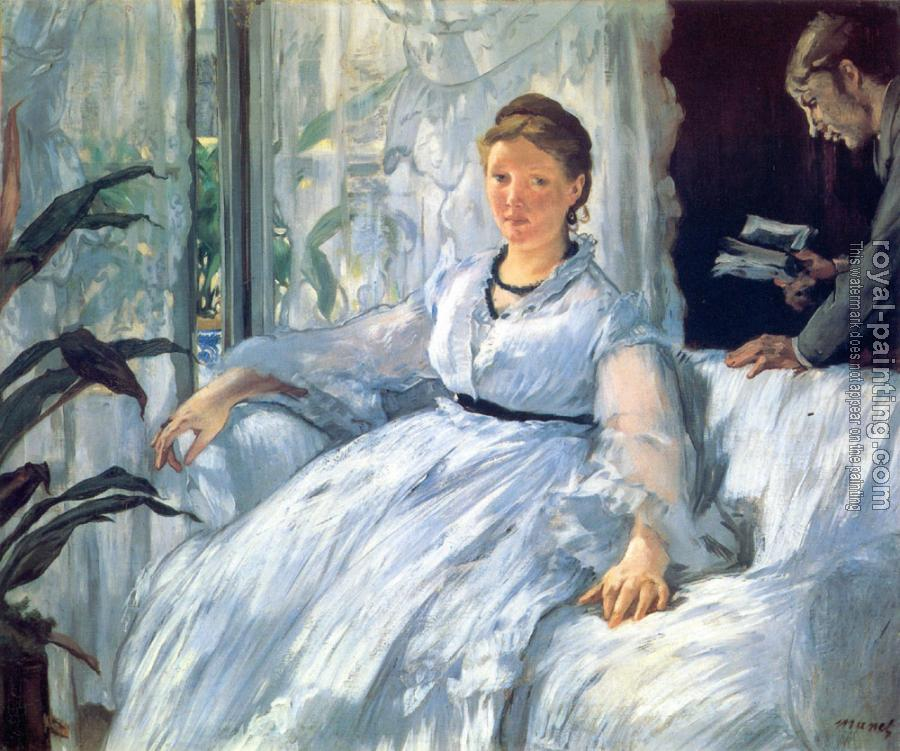 Edouard Manet : Reading (Mme Manet and Leon)