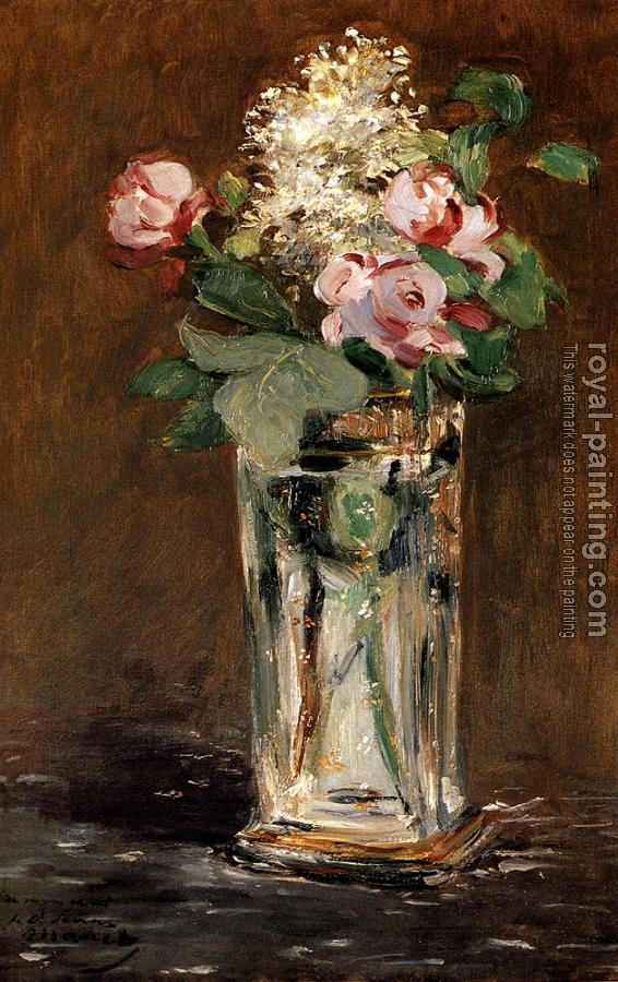 Edouard Manet : Flowers In A Crystal Vase
