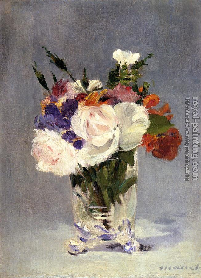Edouard Manet : Flowers In A Crystal Vase II