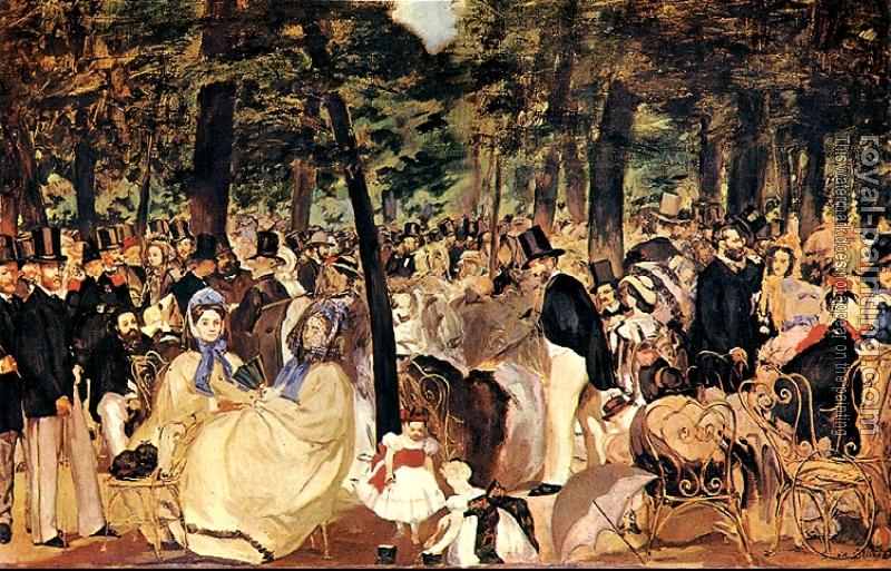 Edouard Manet : Music in the Tuileries