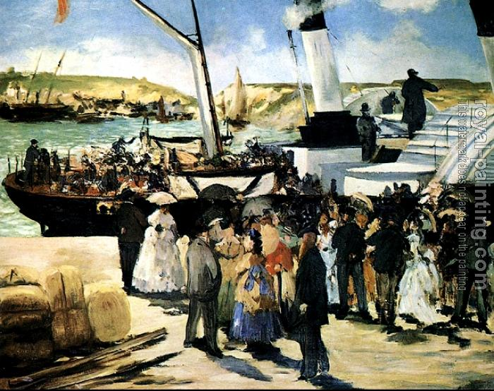 Edouard Manet : The Departure Of The Folkestone Boat