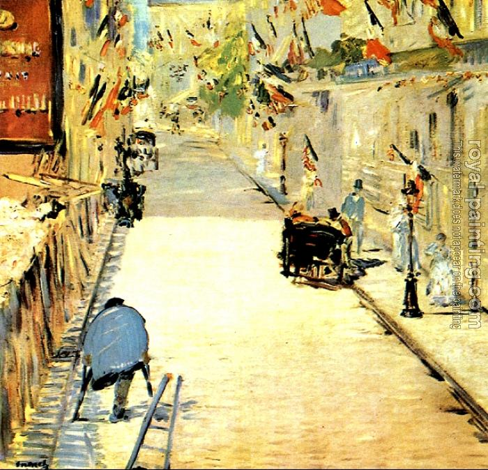 Edouard Manet : Rue Mosnier decorated with Flags