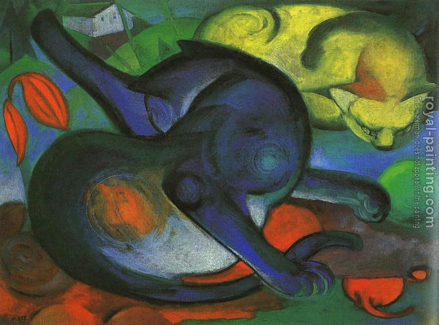 Franz Marc : Two Cats