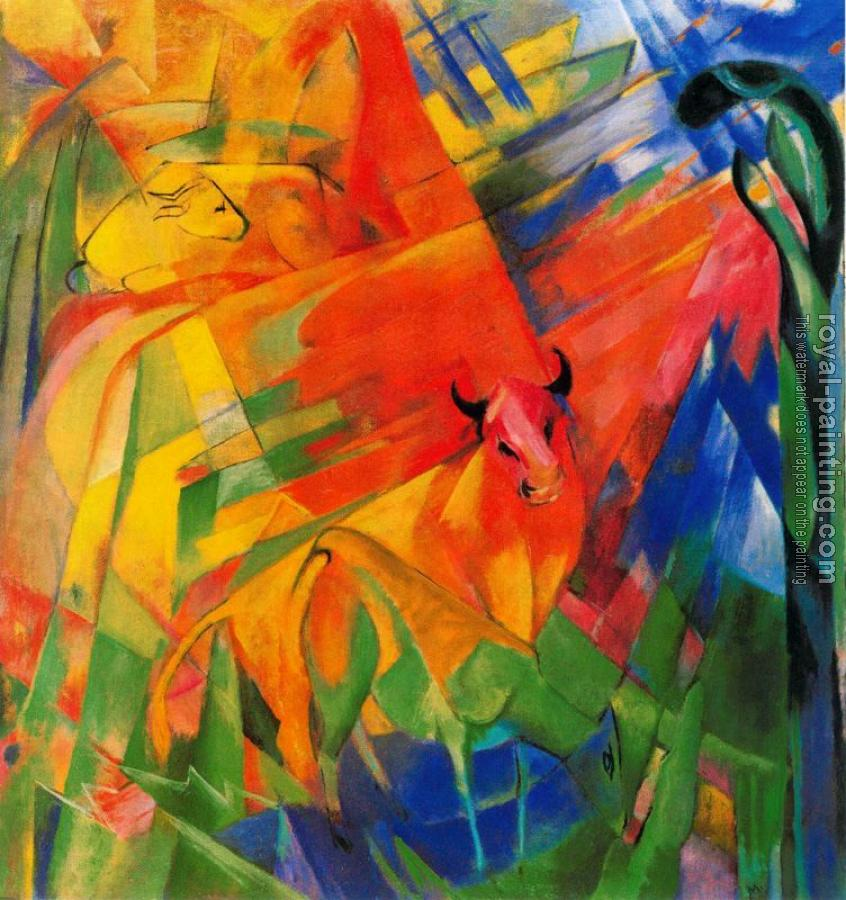 Franz Marc : Animals in a Landscape