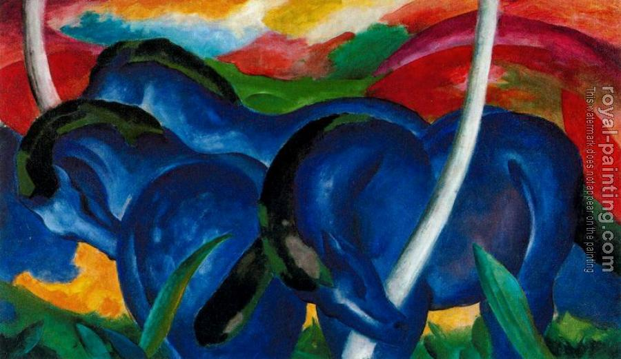Franz Marc : The Large Blue Horses