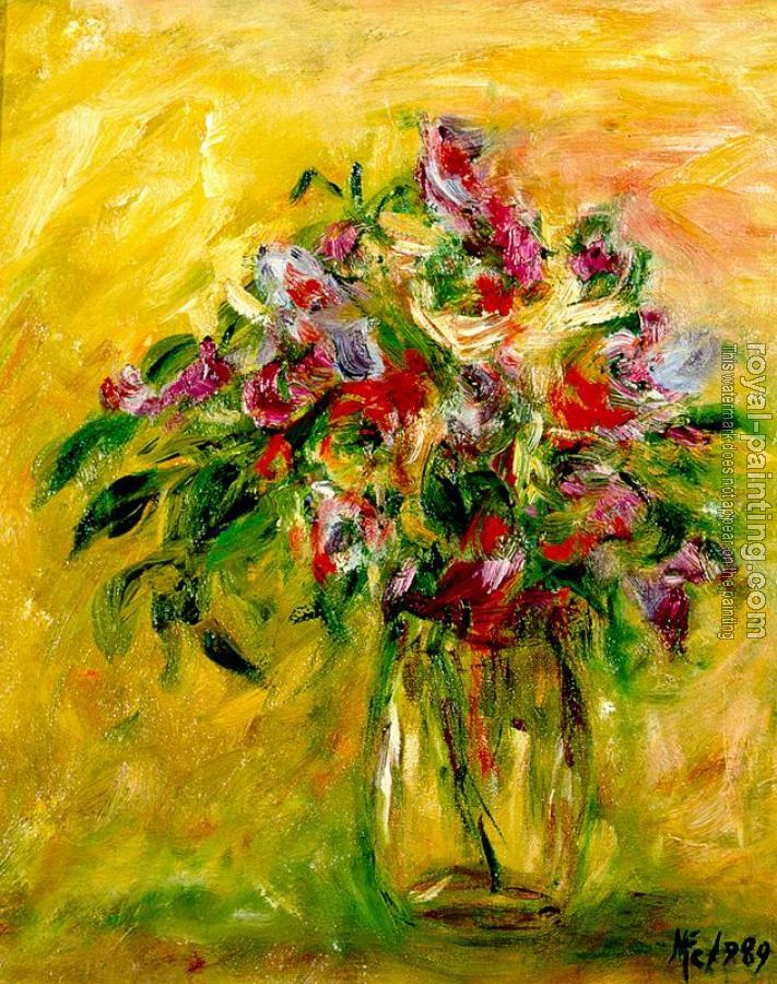 Jarron De Cristal Con Flores by Mari Fe Romero Campo | Oil Painting ...