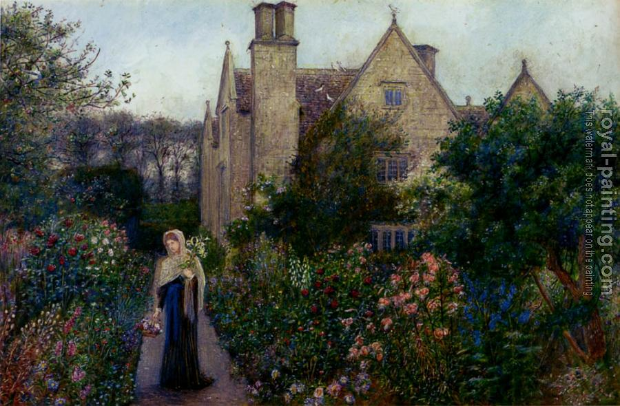Marie Spartali Stillman : The Long Walk At Kelmscott Manor