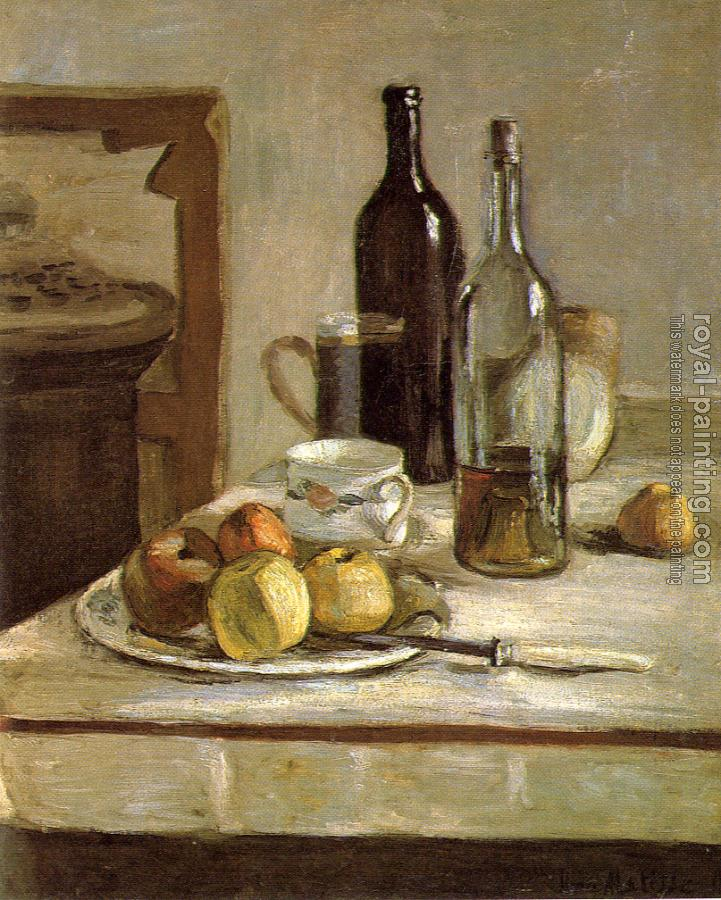 still life with two bottles
