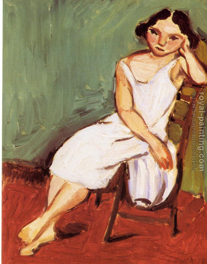 Henri Emile Benoit Matisse : seated young woman