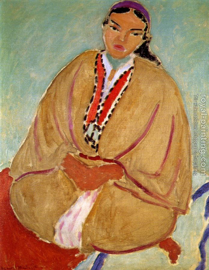 Henri Emile Benoit Matisse : the yellow Robe Zorah