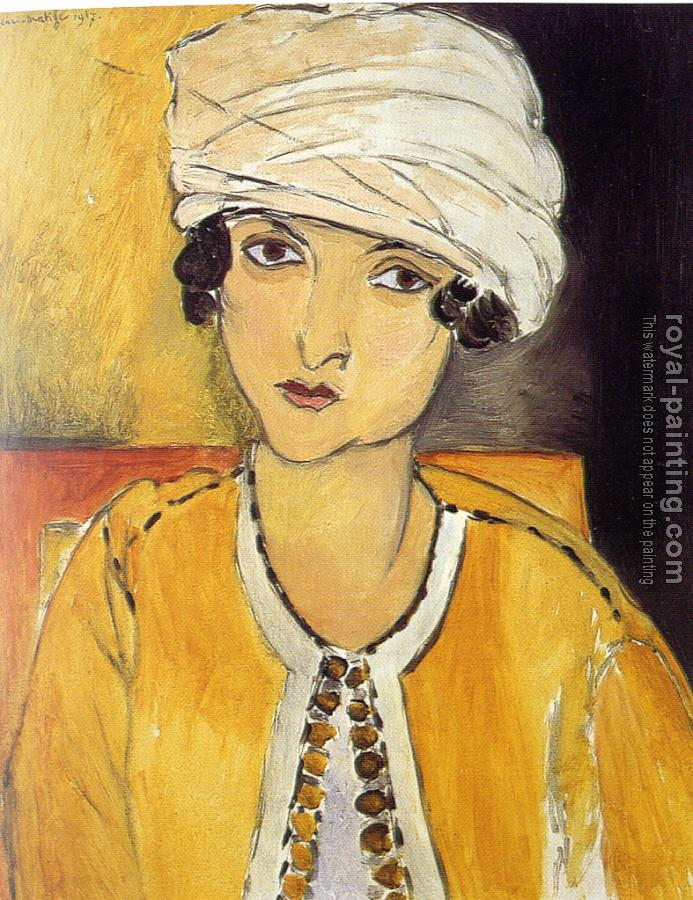 Henri Emile Benoit Matisse : laurette with turban yellow jacket