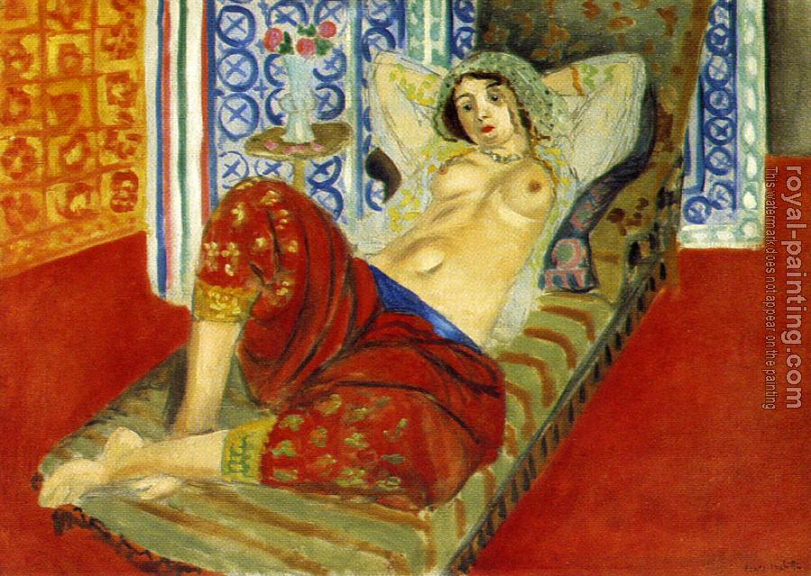 Henri Emile Benoit Matisse : odalisque with red culottes