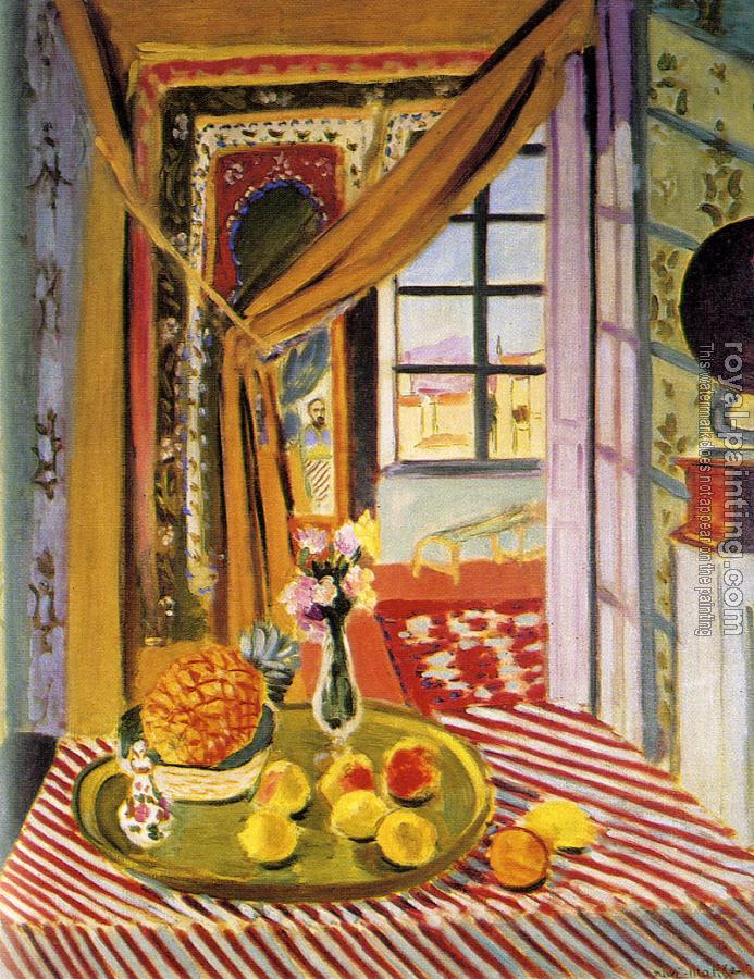 Henri Emile Benoit Matisse : interior with a phonograph