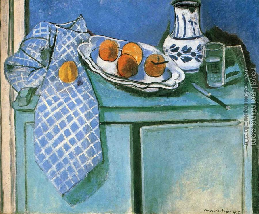 still life on a green sideboard