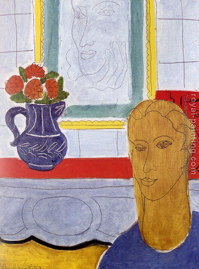 Henri Emile Benoit Matisse : the ochre head