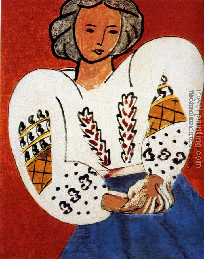 Henri Emile Benoit Matisse : the rumanian blouse