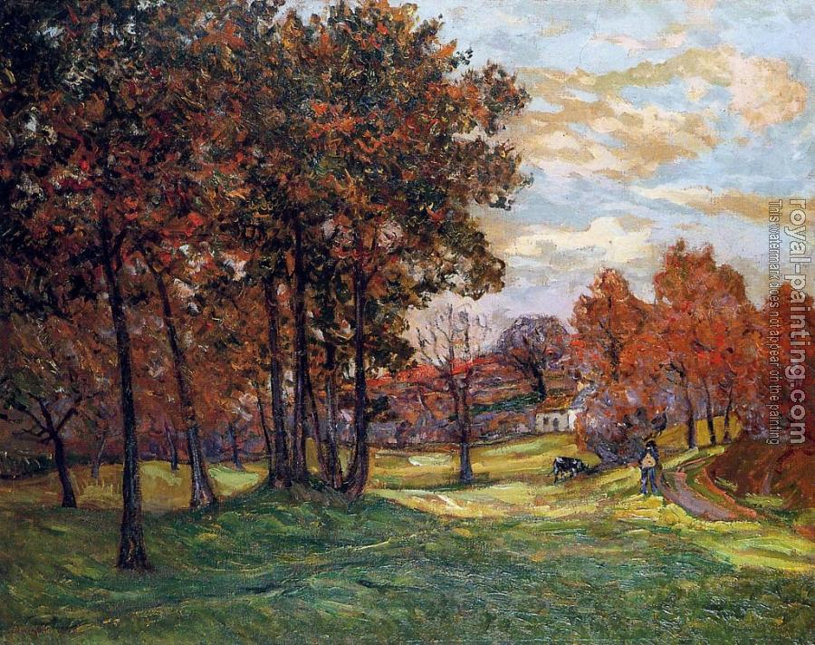 Maxime Maufra : Autumn Landscape at Goulazon, Finistere
