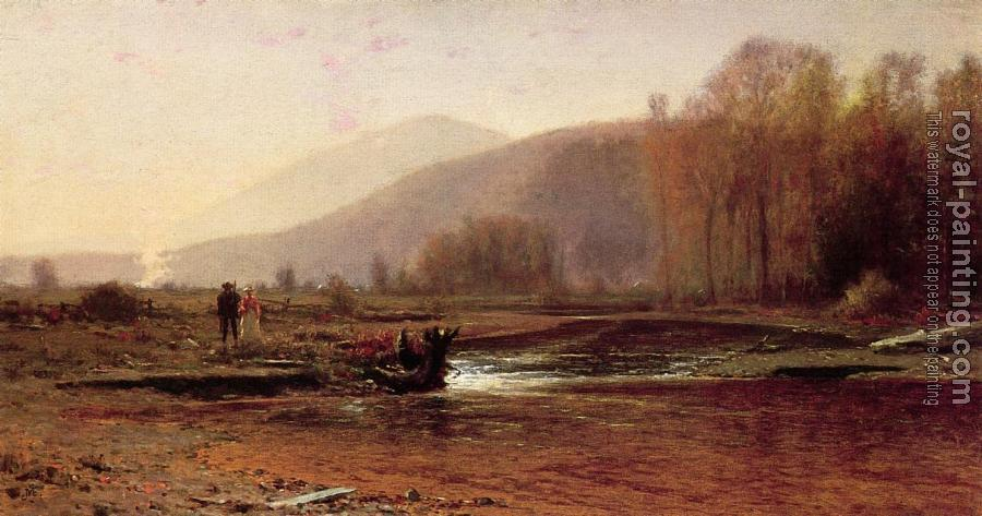 Jervis McEntee : Dusk in the Foothills