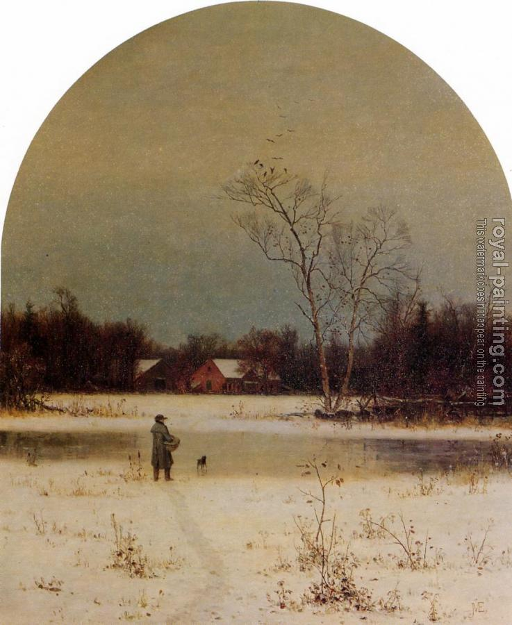 Jervis McEntee : The Frozen Pond