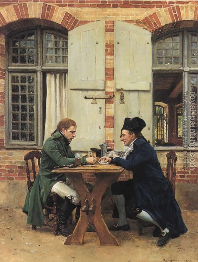Jean-Louis Ernest Meissonier : The Card Players