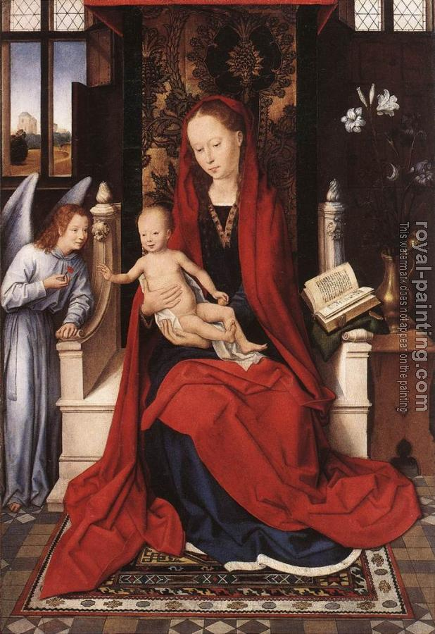Hans Memling : Virgin Enthroned with Child and Angel