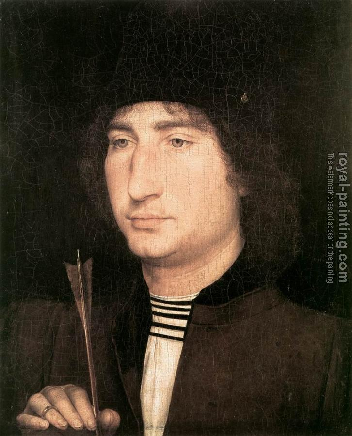 Hans Memling : Portrait of a Man with an Arrow