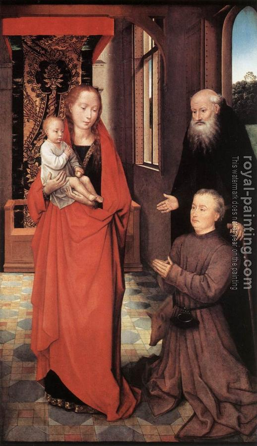 Hans Memling : Virgin and Child with St Anthony the Abbot and a Donor