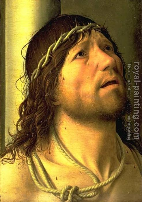 Antonello Da Messina : Christ at the Column (detail)