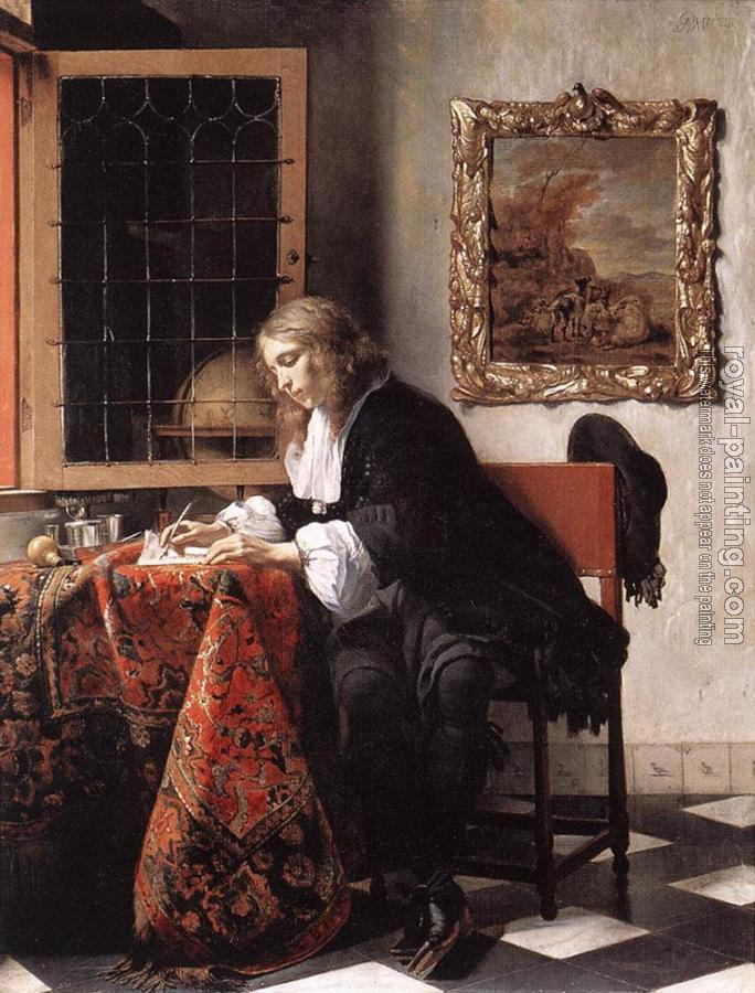 Gabriel Metsu : Man Writing a Letter