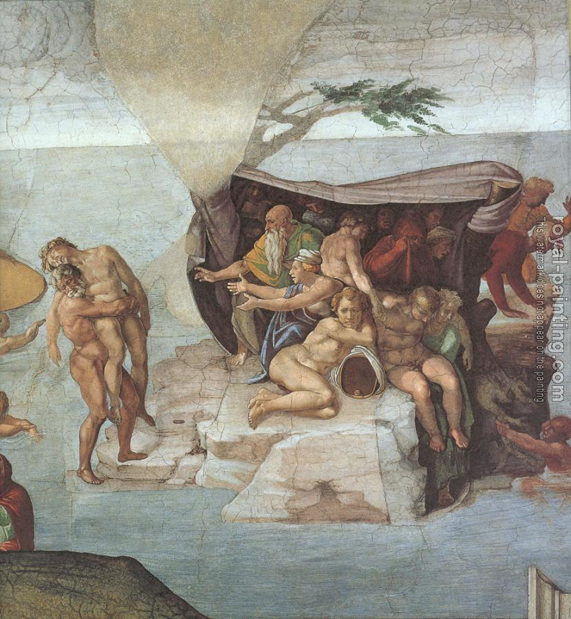 Michelangelo : Ceiling of the Sistine Chapel, Genesis, Noah 7-9, The Flood, right view