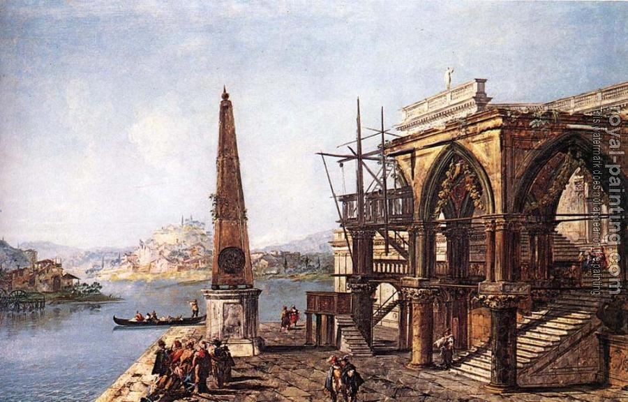 Michele Marieschi : Imaginative View with Obelisk