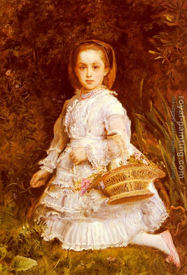 Sir John Everett Millais : Portrait Of Gracia Lees