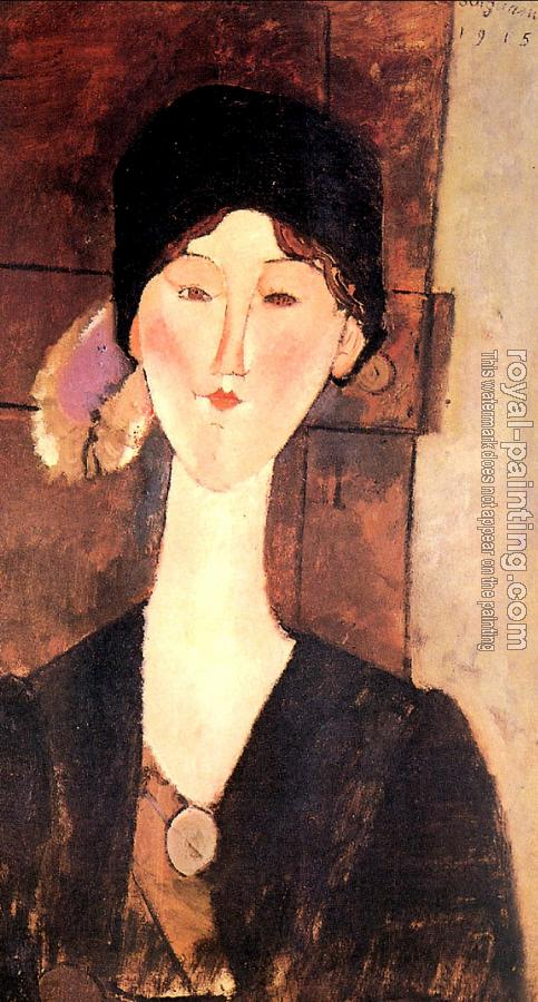 Amedeo Modigliani : Portrait of Beatrice Hastings II