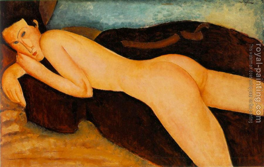 Amedeo Modigliani : Nu couche de dos (Reclining Nude from the Back)