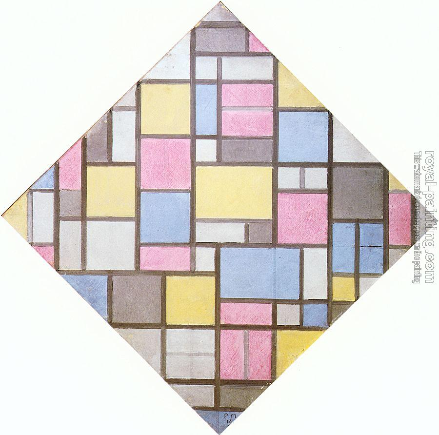 Piet Mondrian : Composition with Grid VII (Lozenge) II