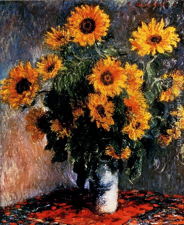 Claude Oscar Monet : Sunflowers