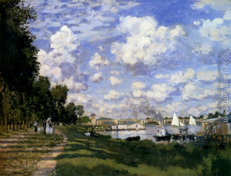 Claude Oscar Monet : The Marina At Argenteuil