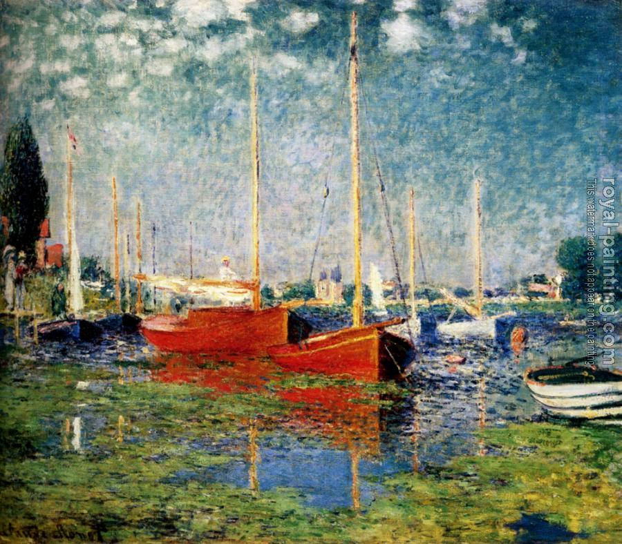Claude Oscar Monet : The Red Boats, Argenteuil