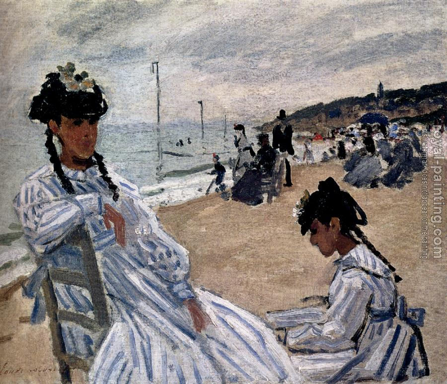 Claude Oscar Monet : On The Beach At Trouville