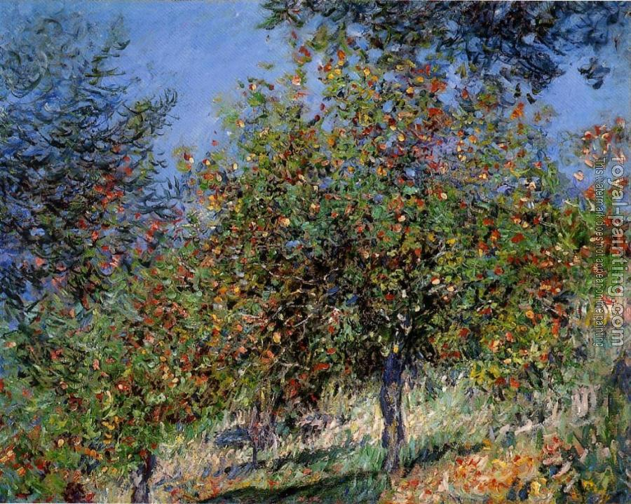 Claude Oscar Monet : Apple Trees on the Chantemesle Hill